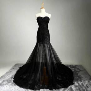 Black wedding prom evening dress gown RBP1219