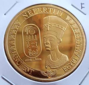 Medallion Nefertiti Ancient Egypt