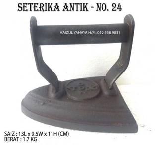 Seterika Antik | Flat Sad Iron - No. 24