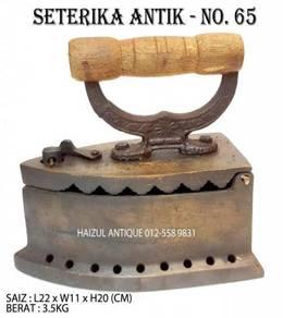 Seterika Antik 9 Lubang - No. 65