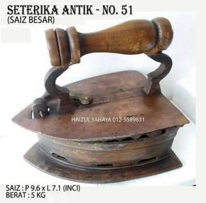 Seterika Antik 3 Lubang (Saiz Besar) - No. 51