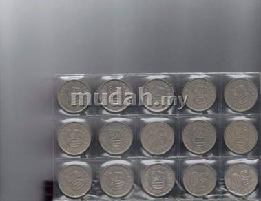 Parliment Malaysia 50 cents coin Complete Set