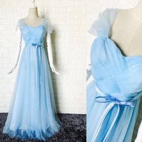 Blue wedding dress bridesmaid dinner prom RBBD0020