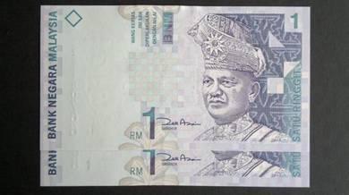 Duit Kertas RM1 11th Siri 11 Zeti Aziz ZE UNC
