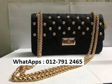 Nice Shoulder Bag Jelly Bag Diamond Design 67ik7