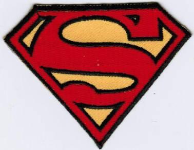 Superman Superhero Emblem Logo Cartoon Badge Patch