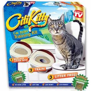Citikitty a cat toilet training kit with patented
