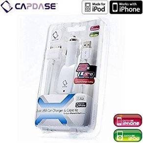 Dual USB Car Charger & Cable Kit for iPhone 3G&3GS