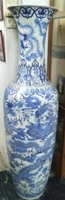 Vintage Rare Ceramic 6 Feet Antique Vase