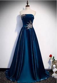 Blue wedding prom evening dress gown RBP1221