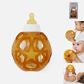Hevea 2in1 Baby Glass Bottle With Star Ball