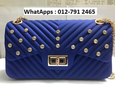 Nice Shoulder Bag Jelly Bag Diamond Design t6j6