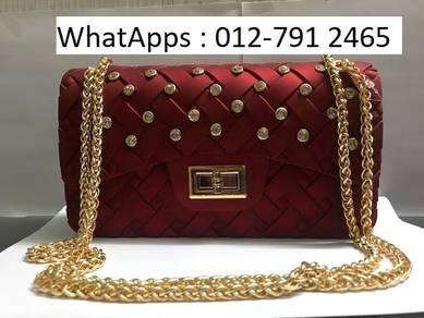 Nice Shoulder Bag Jelly Bag Diamond Design 56icr