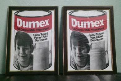Pcol Susu DUMEX Beg Plastik Siap Frame Poster Lama