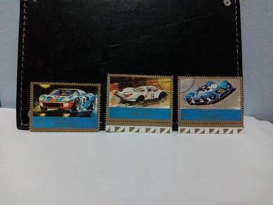 1973 Ajman Stamp, Rally Cars Ford GT40