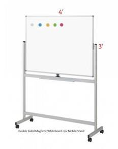 Double Sided Magnetic Whiteboard 3'x4'~Free Instal
