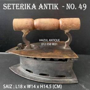 Seterika Antik 3 Lubang - No. 49