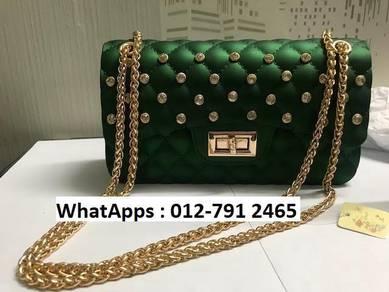 Nice Shoulder Bag Jelly Bag Diamond Design 5j6g5