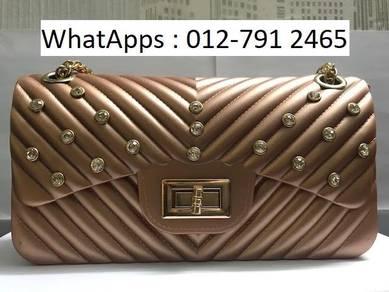 Nice Shoulder Bag Jelly Bag Diamond Design 567ik7