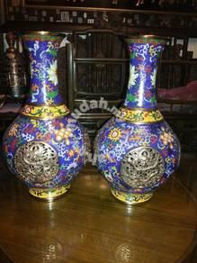 Dragon Curving Cloisonn Vase
