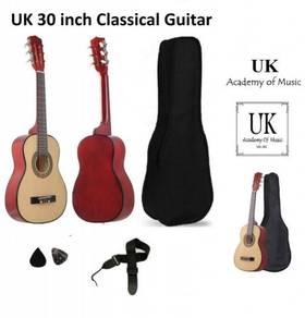 UK 30 Inch Classical Guitar Free Bag Strap 2 Picks