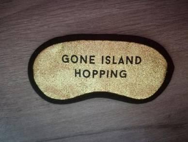 Glitter gold gone island hopping eye mask sleep