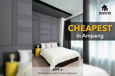 Brand New/Master&Medium Room/Ampang/with Aircond/FREE Wifi&Utilities