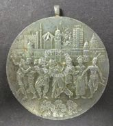 283) greetings Malaysia medal pewter