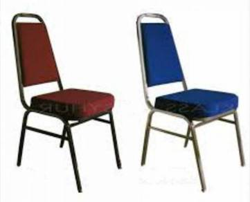 Thick Cushion Epoxy Coated Banquet Chair