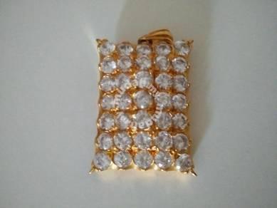 Loket rantai leher zulian cincin emas gold zhulian