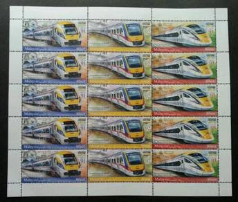 Mint Setenant Sheet Electric Train Service 2018