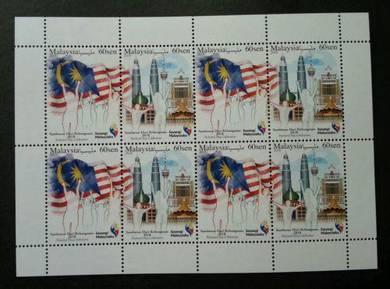 Mint Setenant Sheet National Day Malaysia 2018