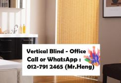 New Office Vertical Blind- with install WA51