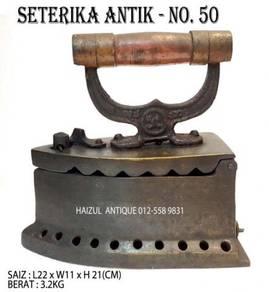 Seterika Antik 10 Lubang - No. 50