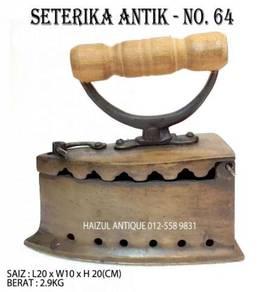 Seterika Antik 6 Lubang - No. 64
