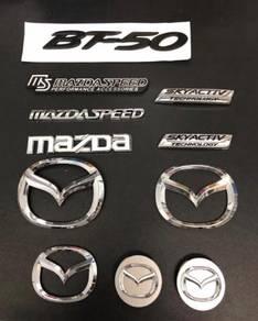 Mazda front rear rim skyactive bt50 emblem logo