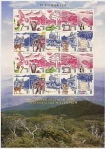 Mint Stamp Sheet Pef Millennium Malaysia 1999