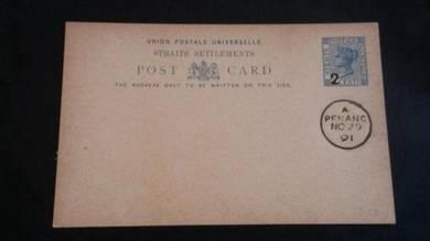 Antik Postcard PENANG Victoria 1891 PC 1062