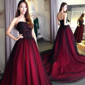 Red black wedding prom evening dress gown RBP1218
