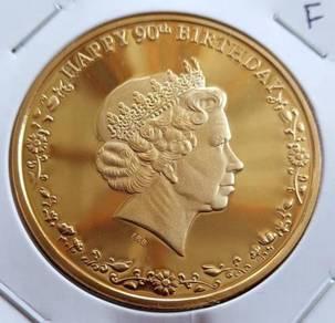 Medallion 90th Birthday Queen Elizabeth 2016