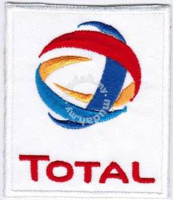 Total Oil & Gas Car Racing Iron On Badge Patch