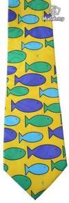 Fish Marine Life Silk Cartoon Neck Tie