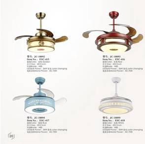 Fan with 3 color led ligkht 42 inch