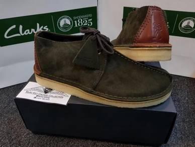 MENS Clarks Original Desert Trex Dark Green Suede