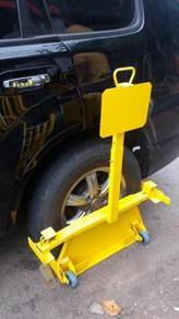 Wheel clamp vehicles