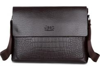 BSJ1314 Horizontal Jeep Business Bag (Dark Brown)