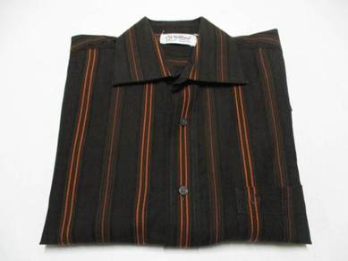 Goldlion Brown Stripes Long Sleeve S (Kod LS3234)