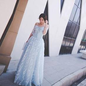 Blue prom wedding bridal dress gown RB0431