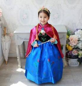 Frozen Elsa Costume Cosplay Girl Dress and tool