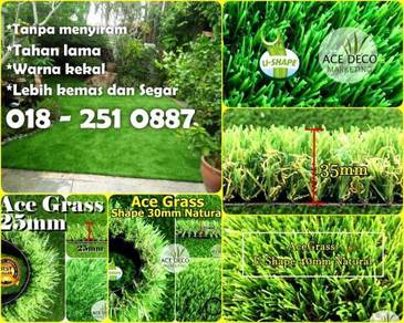 Artificial Grass Serat U/M Rumput Tiruan Carpet 15